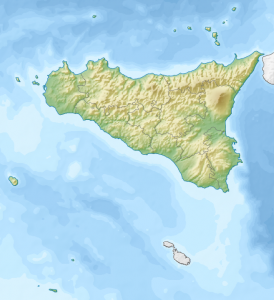 Von Nzeemin - TOPO30 for reliefETOPO1 for bathymetryFile:Italy Sicily location map.svg for borders and coastline; by NordNordWest, CC-BY-SA-3.0Eigenes Werk usingCreated with Generic Mapping Tools (GMT)Diese Vektorgrafik wurde mit Inkscape erstellt., CC BY-SA 3.0, https://commons.wikimedia.org/w/index.php?curid=22775301